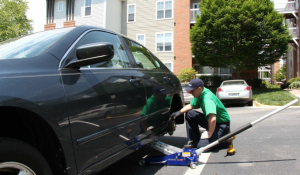 Mobile Brake Repair Being Done at Apartment Complex | TheBrakeSquad.com